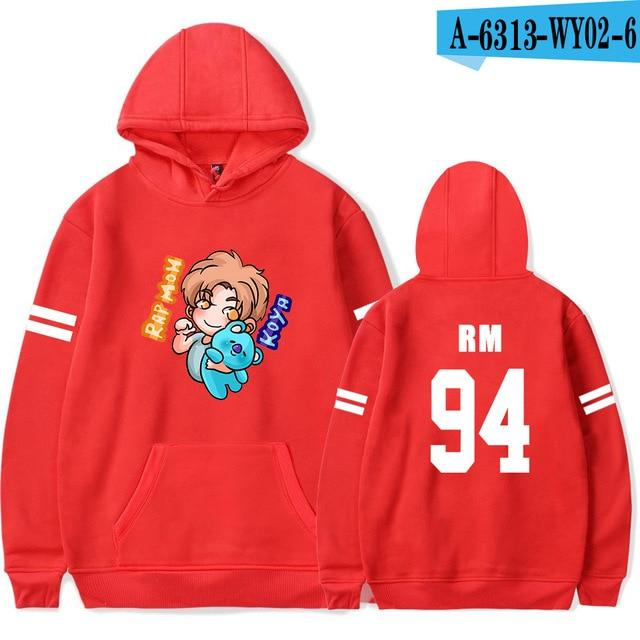 RM Print Hoodies Crops Kpop Women And Men Fans popularliilgal-liilgal
