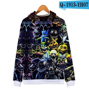 Five Nights At Freddy 3D Hoodie FNAF Children 3D Zipper Hooded Sweatshirtliilgal-liilgal