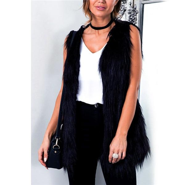Fur Vest Coat Women Autumn Casual Fur Waistcoat Female Sleeveless Outerwear Slimliilgal-liilgal