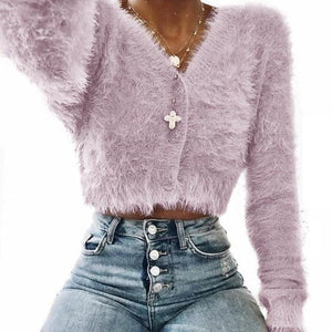 Jacket Autumn And Winter New Style Long-Sleeved Plush Coat Jacket Women Withliilgal-liilgal