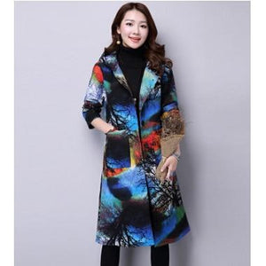 Women's Winter Jacket 2018 New Fashion Hoods Print Padded Cotton Jacket Singleliilgal-liilgal