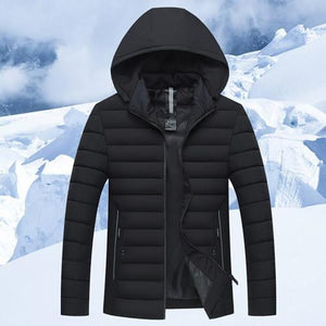 Winter Mens Jackets cotton parka Casual New Hooded Thick Padded Mens Jacketliilgal-liilgal