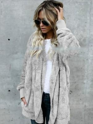 2018 winter warm artificial fur coat women's jacket female lamb fur coatliilgal-liilgal