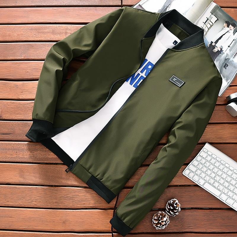 Spring Autumn Mens Jackets and coats Army Green 2018 Fashion Long Sleeveliilgal-liilgal