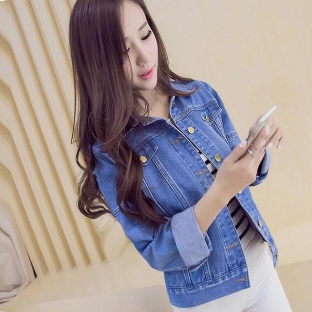 Winter Fur Denim Jacket Women Bomber Jacket Long Sleeve Washed Blue Jeansliilgal-liilgal