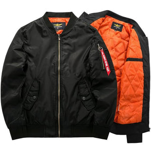 New Spring Autumn Bomber Pilot Jacket Men Ma-1 Flight Thick Jacket Pilotliilgal-liilgal