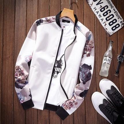 Thoshine Brand Spring Autumn Men Thin Printed Jackets Pockets Slim Fit Maleliilgal-liilgal