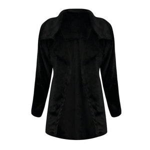 Women Winter Coat Keep Warm Outerwear Loose Big Collar Fur Coatliilgal-liilgal