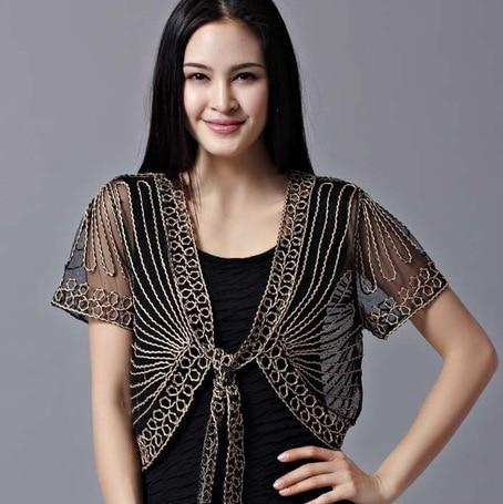 2018 High quality Summer Fashion Womens Clothing Wild Perspective Small Shawl Chiffonliilgal-liilgal