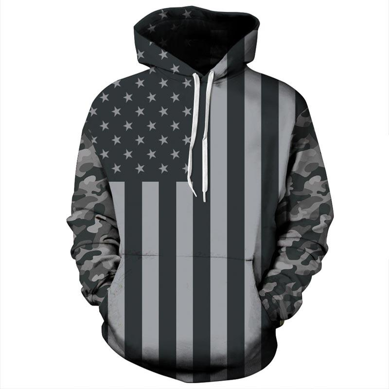USA Flag Hoodies Women/Men 3d Sweatshirts Print Striped Stars America Flagliilgal-liilgal