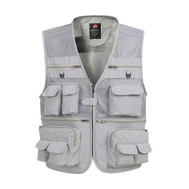 Multi Pocket Baggy Vest For Men 2018 Summer Male Casual Thin Meshliilgal-liilgal