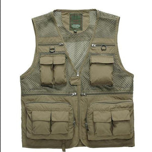 Summer US Fisherman Vest Jacket Director Photographers Clothes Brand Casual Tactical Vestliilgal-liilgal