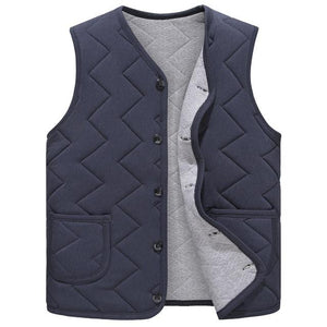 Autumn Winter Men's Clothing Coats Jacket Vests Casual V Neck Single breastedliilgal-liilgal