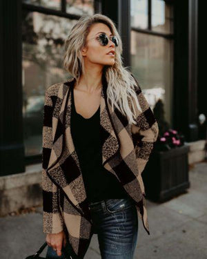Jacket Women Long Sleeve Waterfall Sweater Cardigan Casual Jacket Coat Womenliilgal-liilgal