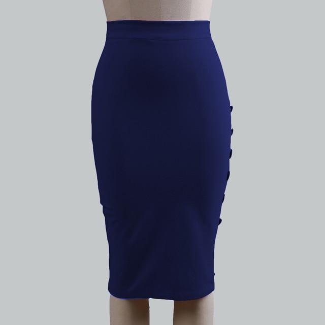 2018 Ladies OL Office Skirt Slim Pencil Skirt For Women High Waistliilgal-liilgal