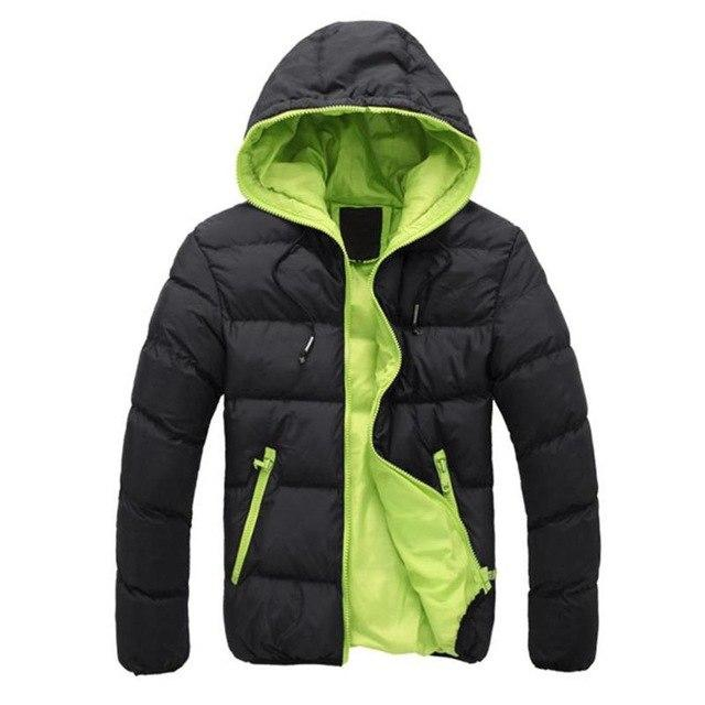 2018 winter jacket men Hooded Collar Coat Winter Thick Cotton Warm Outwearliilgal-liilgal
