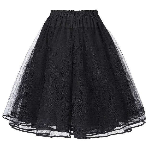 Women Luxury Retro Vintage skirt Women Tutu Skirts Crinoline Petticoat 50s Retroliilgal-liilgal