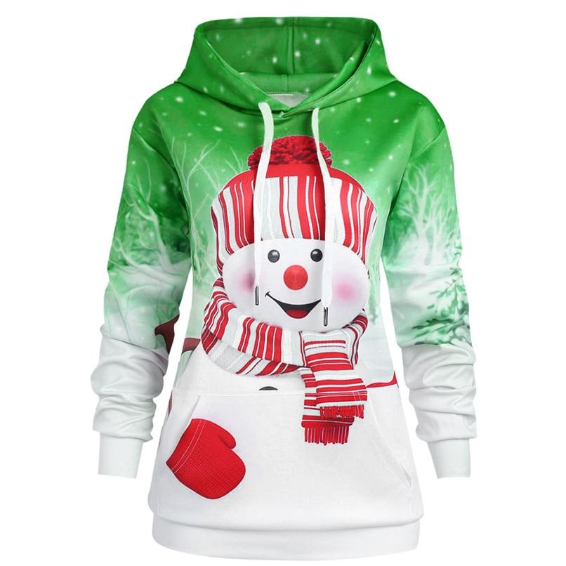 3D Print Christmas Hoodies Hooded Pullover Harajuku Women Christmas Sweatshirts Women Hoodiesliilgal-liilgal