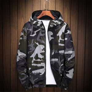 6XL 7XL 8XL Bomber Jacket Men hoodies zipper Coat Camouflage Both Sideliilgal-liilgal