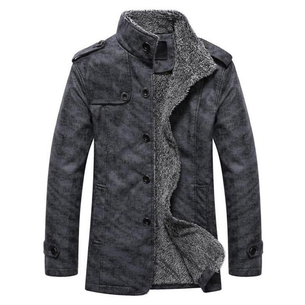 Jacket Men Fashion utumn Winter Casual Button Outerwear & Coats Thermalliilgal-liilgal