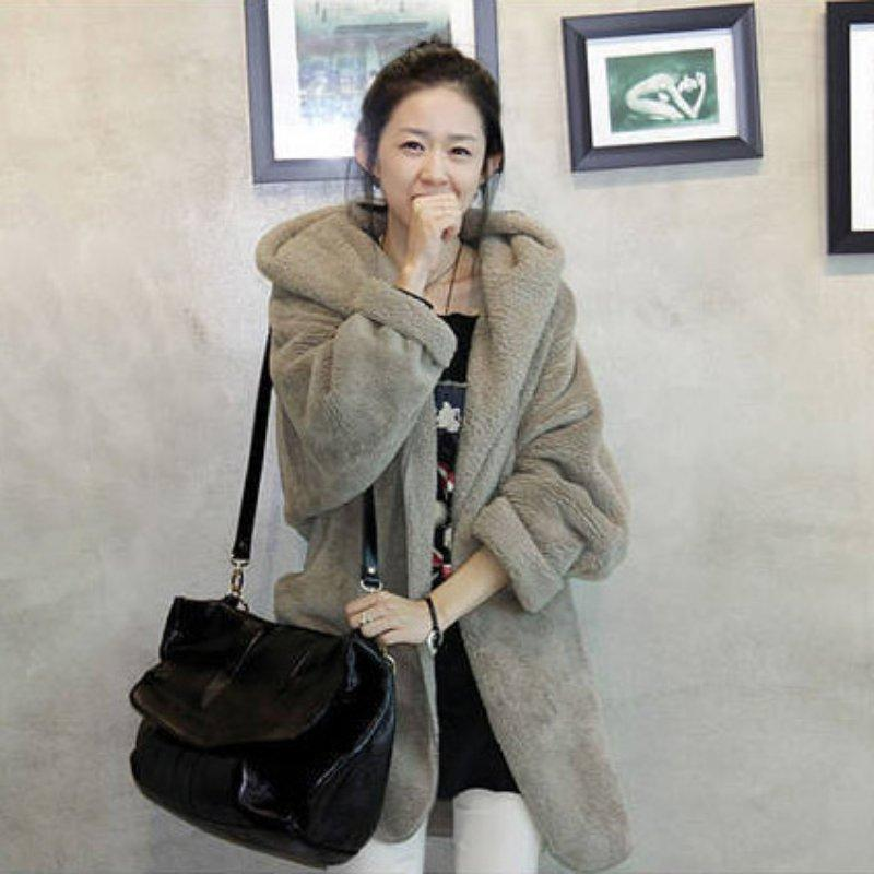 Women Winter Soft Fleece Thick Hooded Coat Hoodie Sweater Jacket Cardigan Casualliilgal-liilgal