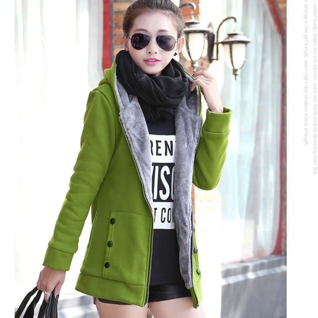 2018 Thicken Warm Coat Female Women Winter Cotton Liner Hooded Coatsliilgal-liilgal