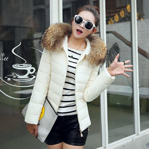 Women Cotton Coat New Fashion Slim Fit Short Warm Jacket Hooded Cottonliilgal-liilgal