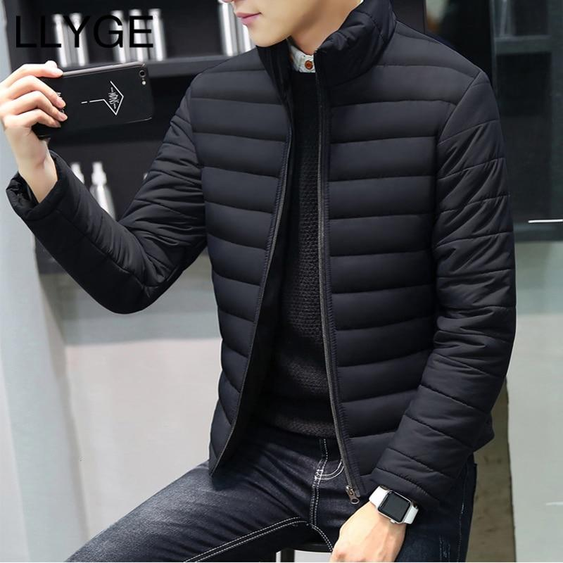 Men's Cotton-Padded Jackets Coats 2018 Winter Patchwork Hooded Parkas Jacket Men Casualliilgal-liilgal