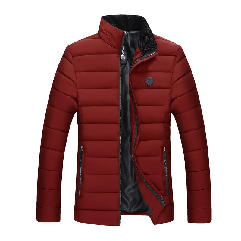 Winter Jacket Men 2018 Fashion Stand Collar Male Parka Jacket Mens Solidliilgal-liilgal