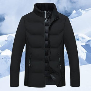 Men Coat 2018 New Fashion Men Cotton Stand Zipper Warm Winter Autumnliilgal-liilgal