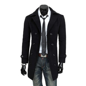 Men's windbreaker 1Pcs fashion Casual wool coat Male coat jacketliilgal-liilgal