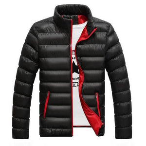 The North Winter Jackets Men Warm Solid Color Men's Coat Cotton-padded Jacketsliilgal-liilgal