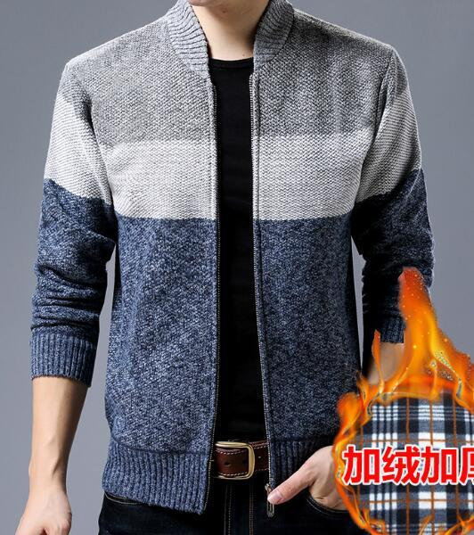 Men's sweater jacket Novel ideas knitting thick 2018 Men's Brand Casual Sweatersliilgal-liilgal