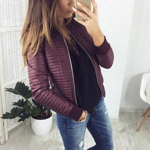 2018 Womens Autumn Winter Coat Short Section Outwear Cotton Padded Warm Jacketliilgal-liilgal