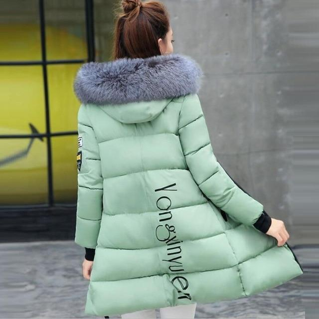 winter jacket women female coat 2018 woman parka long sleeve hood Slimliilgal-liilgal