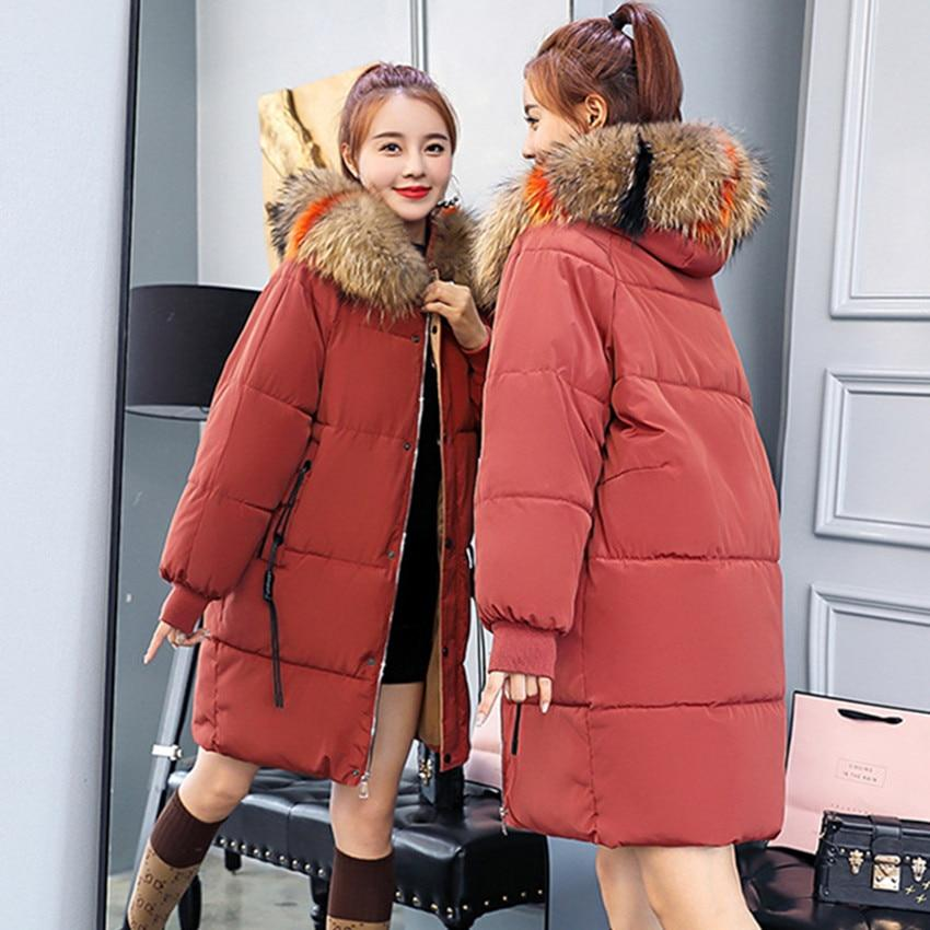 Autumn Winter Warm Female Hoodie Parkas Clothes Fashion Korean OL Coat Darkliilgal-liilgal