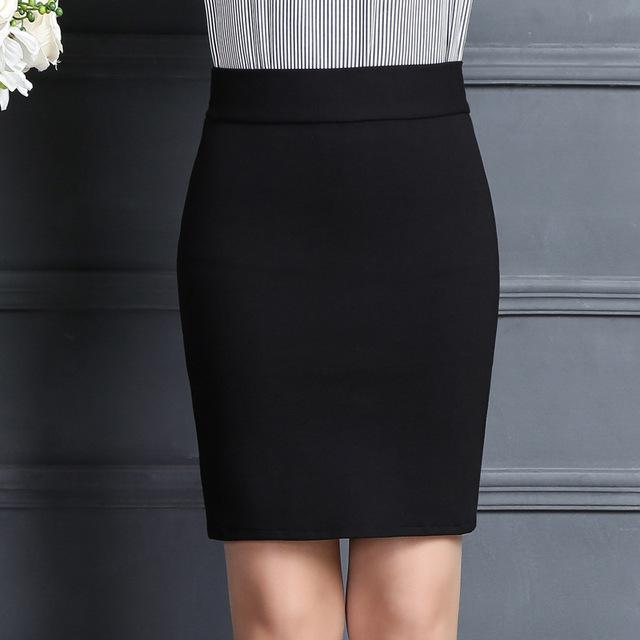 New 2018 Women Skirt Work Fashion Stretch Slim High Waist Pencil Skirtliilgal-liilgal