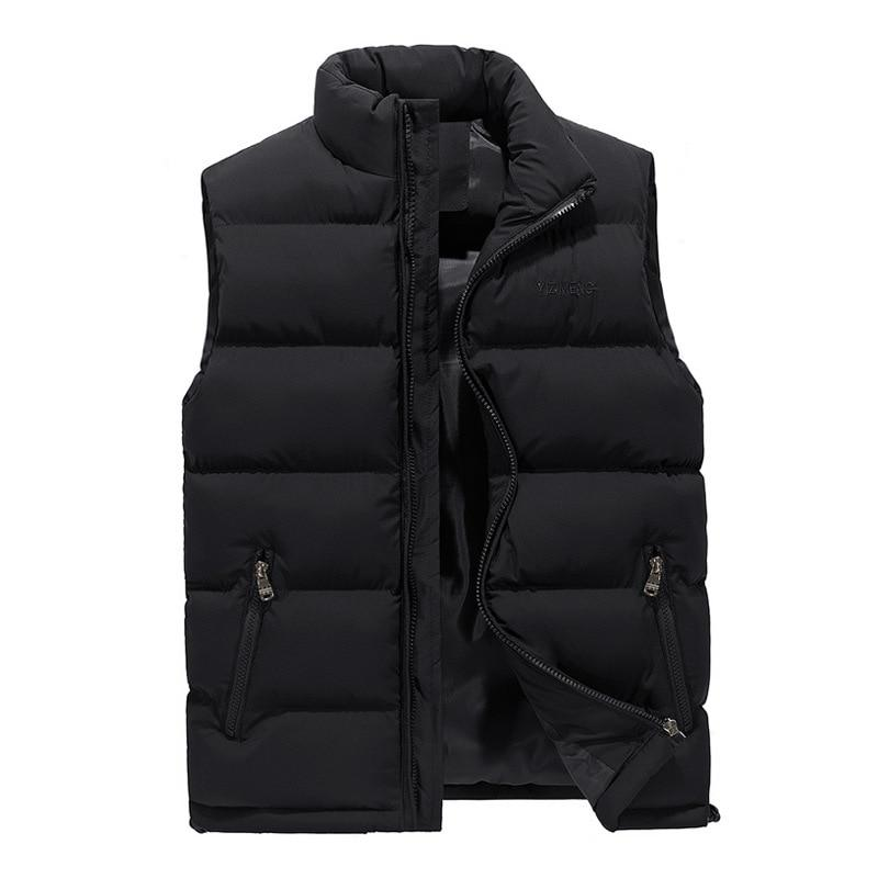 2018 New Casual Vest Men Autumn Winter Sleeveless Jackets Male Solid Waistcoatliilgal-liilgal