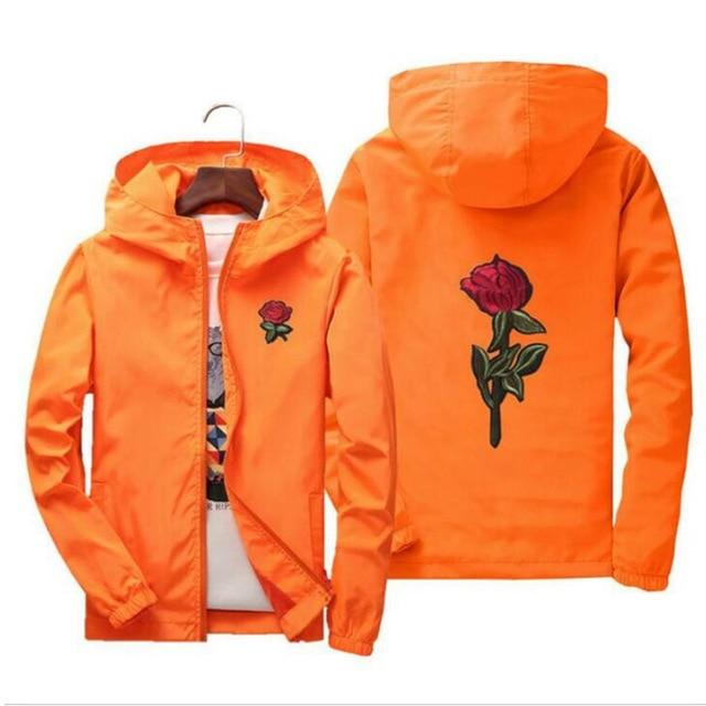 jacket windbreaker men women rose college jackets 2018 Spring Autumn Fashion Jacketliilgal-liilgal
