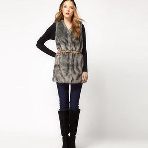 New Women Vest Jacket Sleeveless Winter Body Warm Coat Longliilgal-liilgal