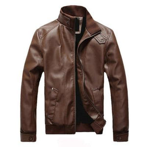 New Fashion Motorcycle Leather Jackets Men Leather Coat Casual Slim Coats Withliilgal-liilgal