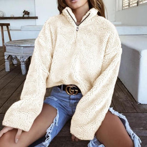 2018 New Autumn Winter High Collar Sweaters Pullover Casual Long Sleeve Thickliilgal-liilgal