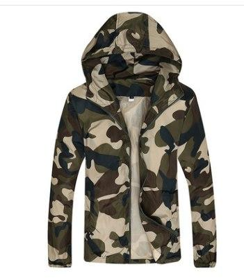 Hot Selling 2018 New Men Fashion Camouflage Jacket Summer Tide Male Hoodedliilgal-liilgal