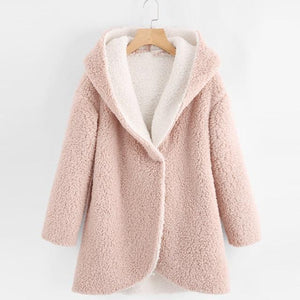 faux fur coat Women's Winter Curved Hem Longline Faux Fur Sherpa Fleeceliilgal-liilgal