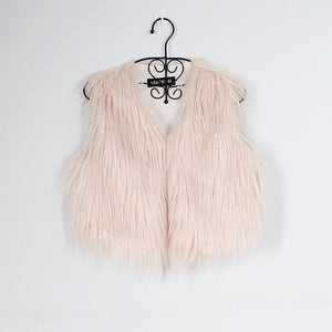 Women Faux Fur Vest Winter Fluffy Fur Coat Warm Hairy Outwear Vestsliilgal-liilgal