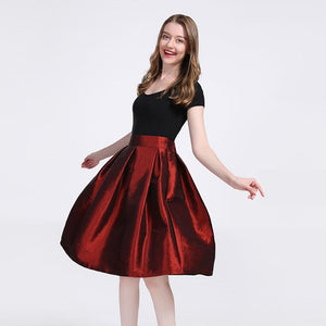 2018 Fashion Long Skirts Women Faldas High Waist Pleated Womans Floor Lengthliilgal-liilgal