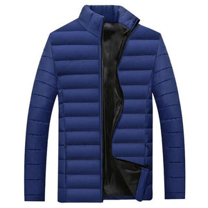 Men Winter Lightweight Jacket Parkas Padded Solid Color Thicken Warm Coat Menliilgal-liilgal