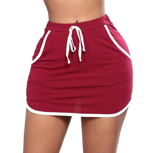 Women Hot Short Elastic Mini Skirt Sexy Slim Tight Pencil Night Clubliilgal-liilgal