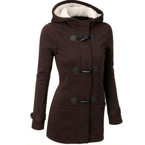 Women Trench Coat Women Wool Blend Overcoat Female Slim Long Hoodedliilgal-liilgal