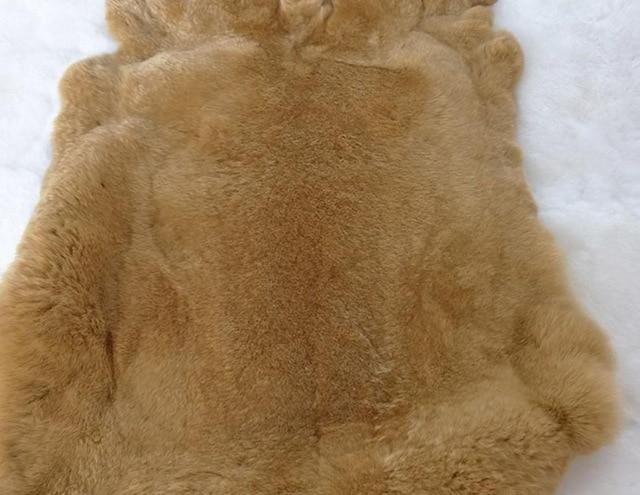 Rex rabbit skin fur raw material DIY material for craft tannedliilgal-liilgal